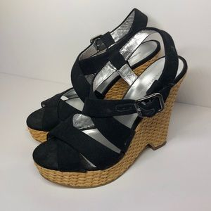 Banana Republic wicker wedge sandals